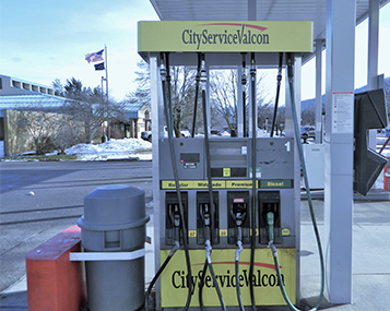 Cardlock station where clients can use their fleet fuel cards